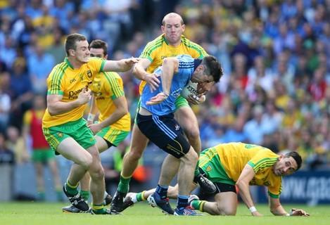 Michael Darragh Macauley under pressure
