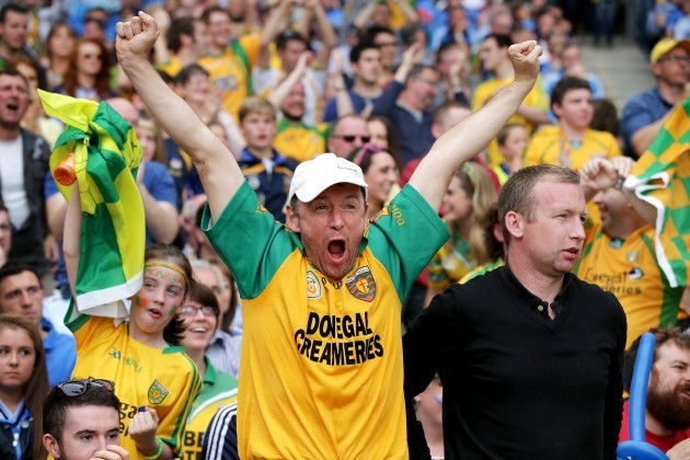 Donegal fans celebrate