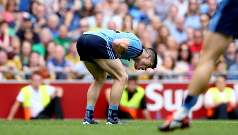 Diarmuid Connolly reacts to a missed chance D