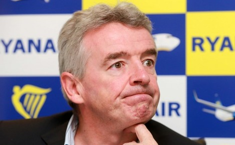 Ryanair press conference. Ryanair CEO