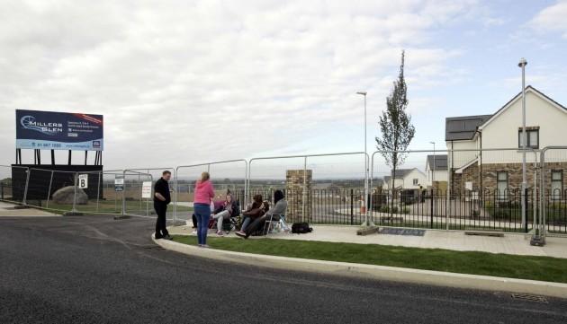 Millers Glen Development queue. Pictured
