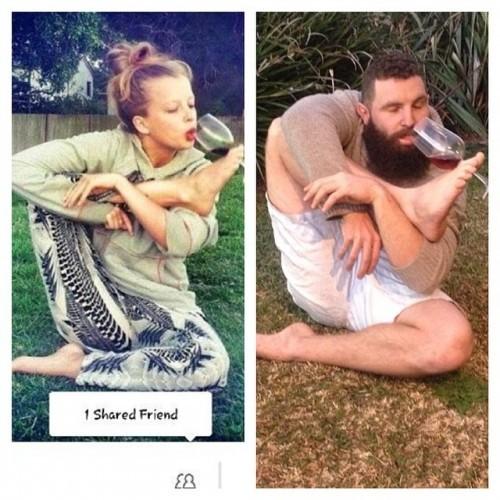 Yoga and wine... Just in time! #beardseason #budgysmuggler
