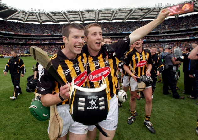 Michael Rice and John Dalton celebrate