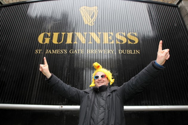 French Rugby Fans in Dublin