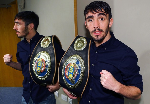 Jamie Conlan with his belt after the fight