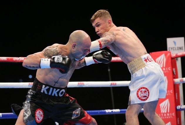 Carl Frampton in action against Kiko Martinez