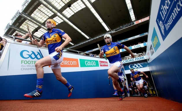 Tipperary players take to the field