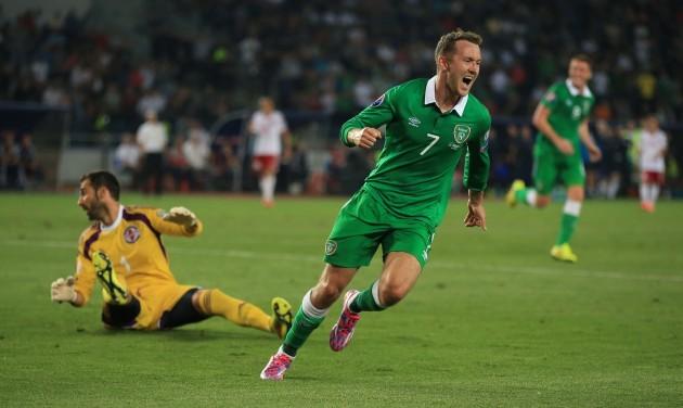 Soccer - UEFA Euro 2016 - Qualifying - Group D - Georgia v Republic of Ireland - Boris Paichadze Dinamo Arena