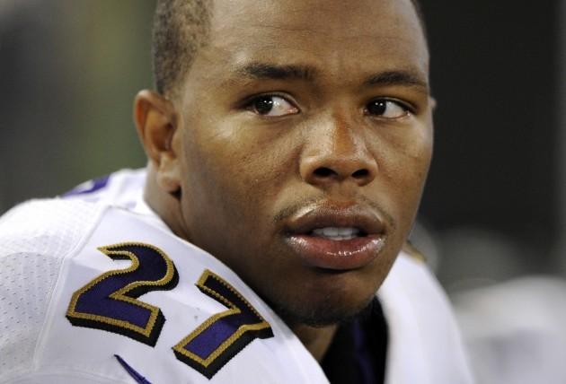 Ravens Rice Cut Football