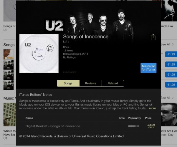 U2 just unveiled their new album and released it for free