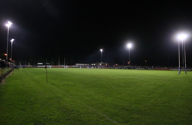 View of tonight's game under lights at Dooradoyle