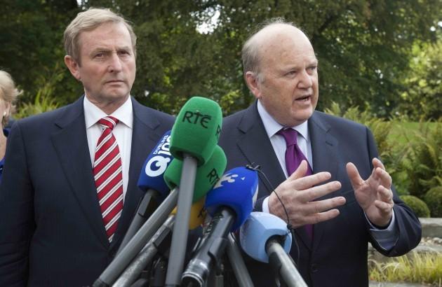 11/9/2014. Fine Gael Think-In. L to R. Taoiseach E