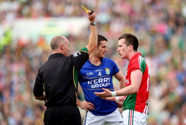 Cormac Reilly yellow cards Shane Enright and Cillian O'Connor
