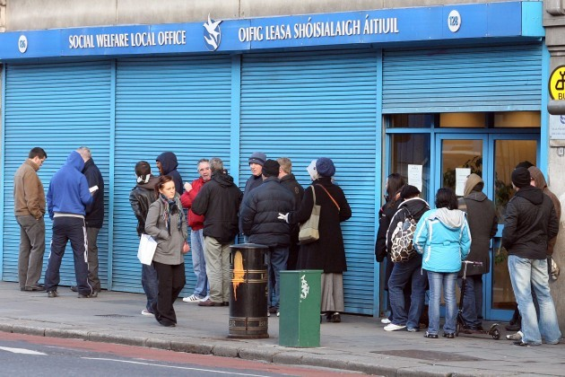 File pics New figures from the Central Statistics Office show that the numbers signing on to the Live Register fell by 1,400 in December.