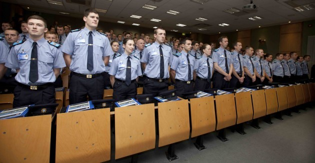 The Thin Blue Line. New Garda recruits