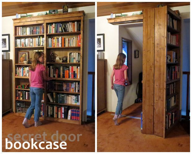 This Bookcase That Is Actually A Secret Door