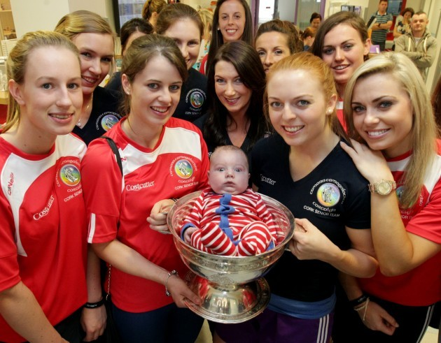 Cork Camogie Champions at Crumlin Hospit