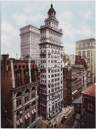 the-gillender-building-was-completed-in-the-financial-district-in-1897-but-stood-for-only-13-years-it-was-destroyed-in-1910-and-replaced-by-a-bigger-building-that-combined-its-neighboring-lot