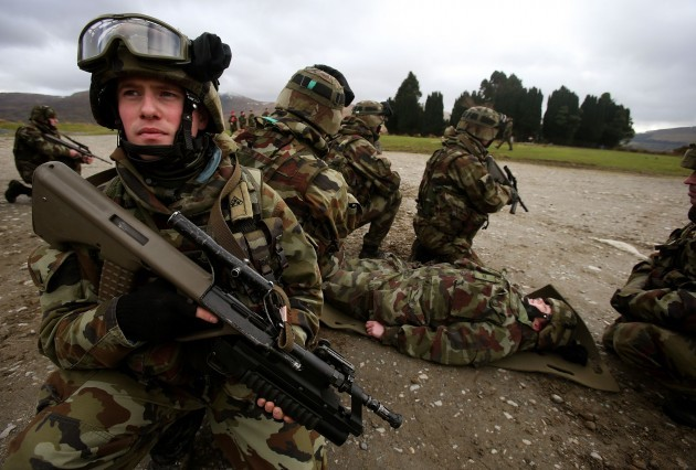 Irish Defence Force training exercise