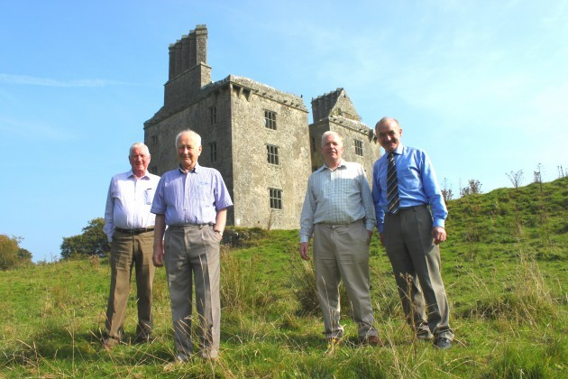 At Glinsk Castle - Mickie Grady-Jimmy Toole-John Cunniffe and Marty Ward at Glinsk Castle as they think of Seán Parker