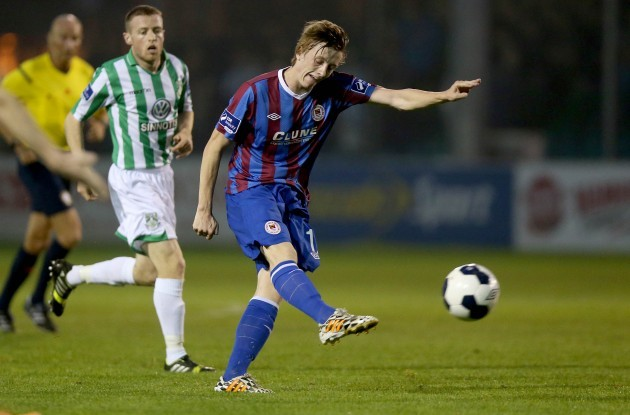 Chris Forrester scores his side's first goal