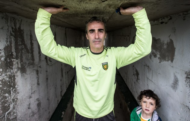 Jim McGuinness with his son Jim Jr