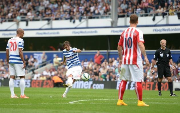 Soccer - Barclays Premier League - Queens Park Rangers v Stoke City - Britannia Stadium