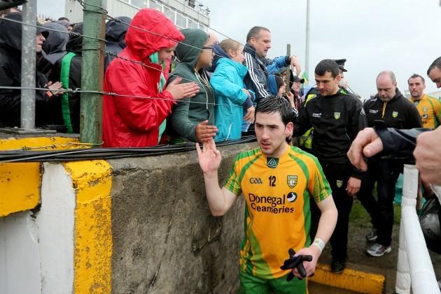 Mark McHugh leaves the field