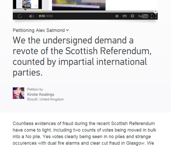scottish referendum story