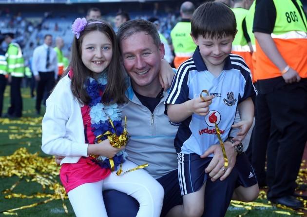 Jim Gavin with his children Yasmin and Jude