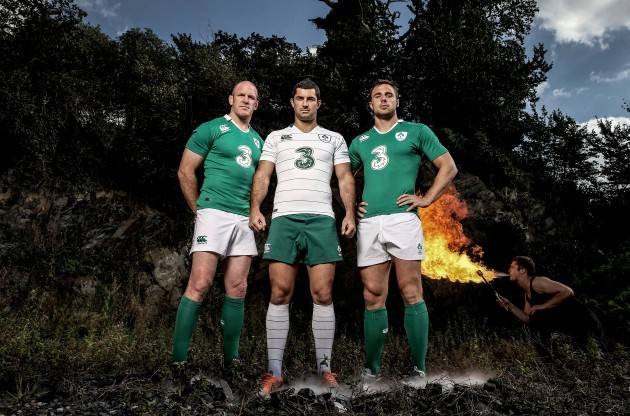 Paul O'Connell, Rob Kearney and Tommy Bowe