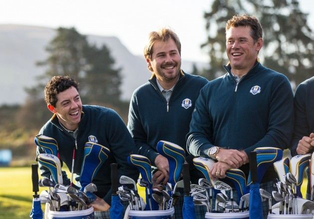 Rory McIlroy, Victor Dubuisson and Lee Westwood