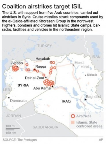 US COALITION ISIL AIRSTRIKES