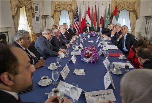 Barack Obama, King Abdullah II , John Kerry