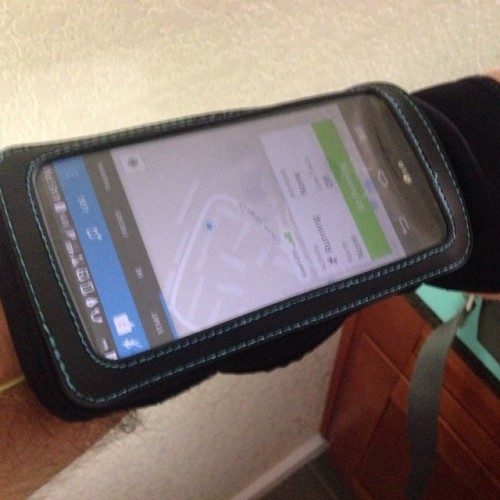 This is the giant arm band you have to use when your phone is too big #androidproblems