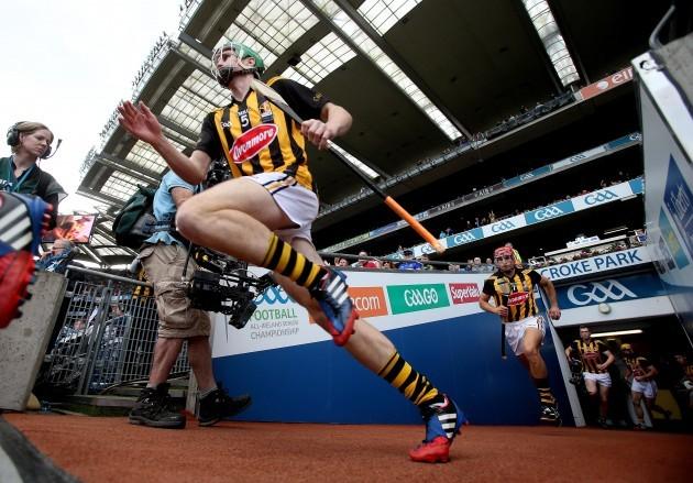 Kilkenny players take to the field
