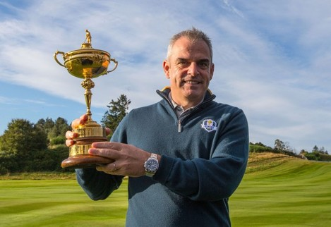 Paul McGinley with the Ryder Cup