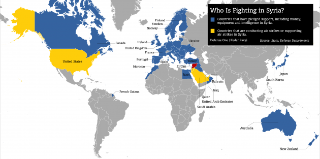 map of coalition forces