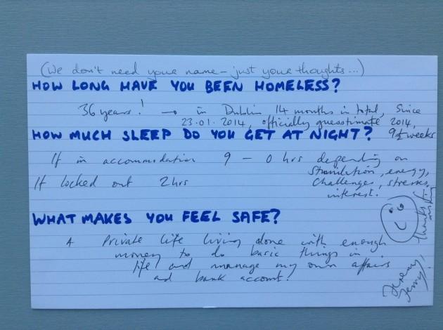 Homeless card `1