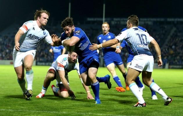 Mick McGrath scores a try