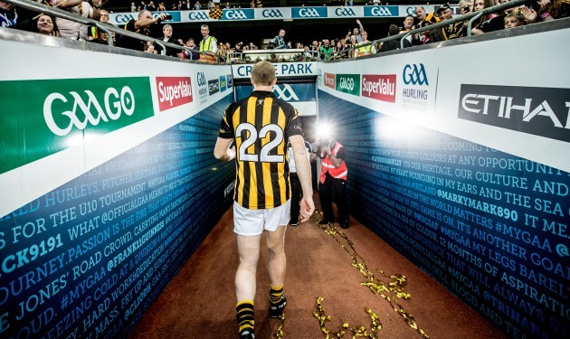 Henry Shefflin heads down the tunnel after the  game