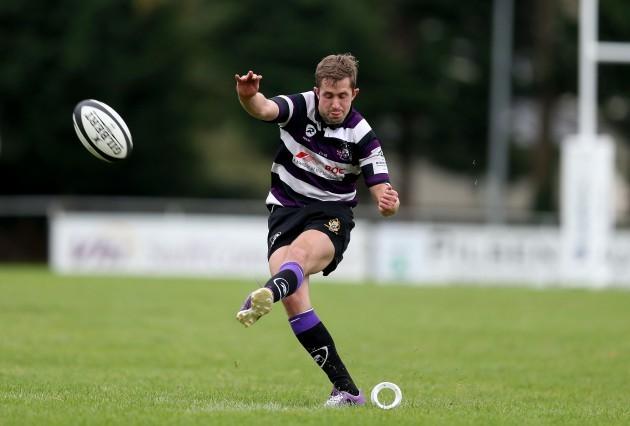 Mark O'Neill kicks a penalty