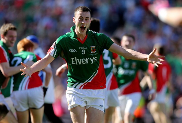 Diarmuid O'Connor celebrates at the final whistle