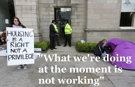 Dun Laoghaire Sleep Outs Protests