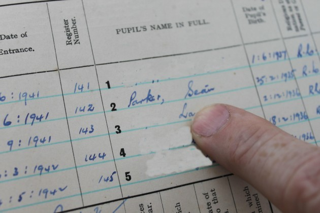 james-shevlin-former-principal-of-ballincurry-ns-points-to-the-name-of-sean-parker-in-the-old-roll-book-630x420 (1)