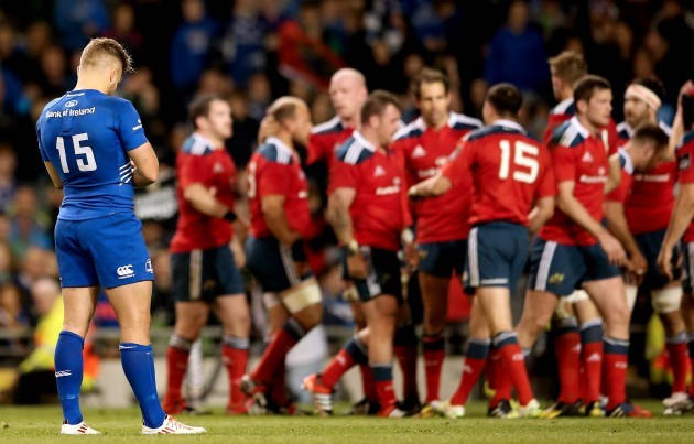 Ian Madigan dejected at the final whistle