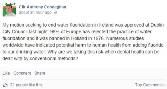 Dublin city councillors vote against fluoride · TheJournal ie