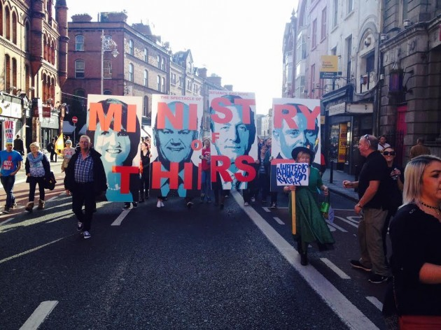 Tens of thousands take to the streets of Dublin to protest