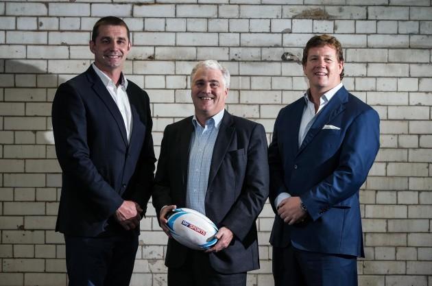 Alan Quinlan, Stuart Barnes and Paul Wallace 3/10/2014