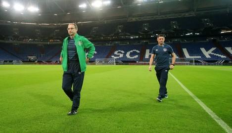 Martin O'Neill with Robbie Keane 13/10/2014